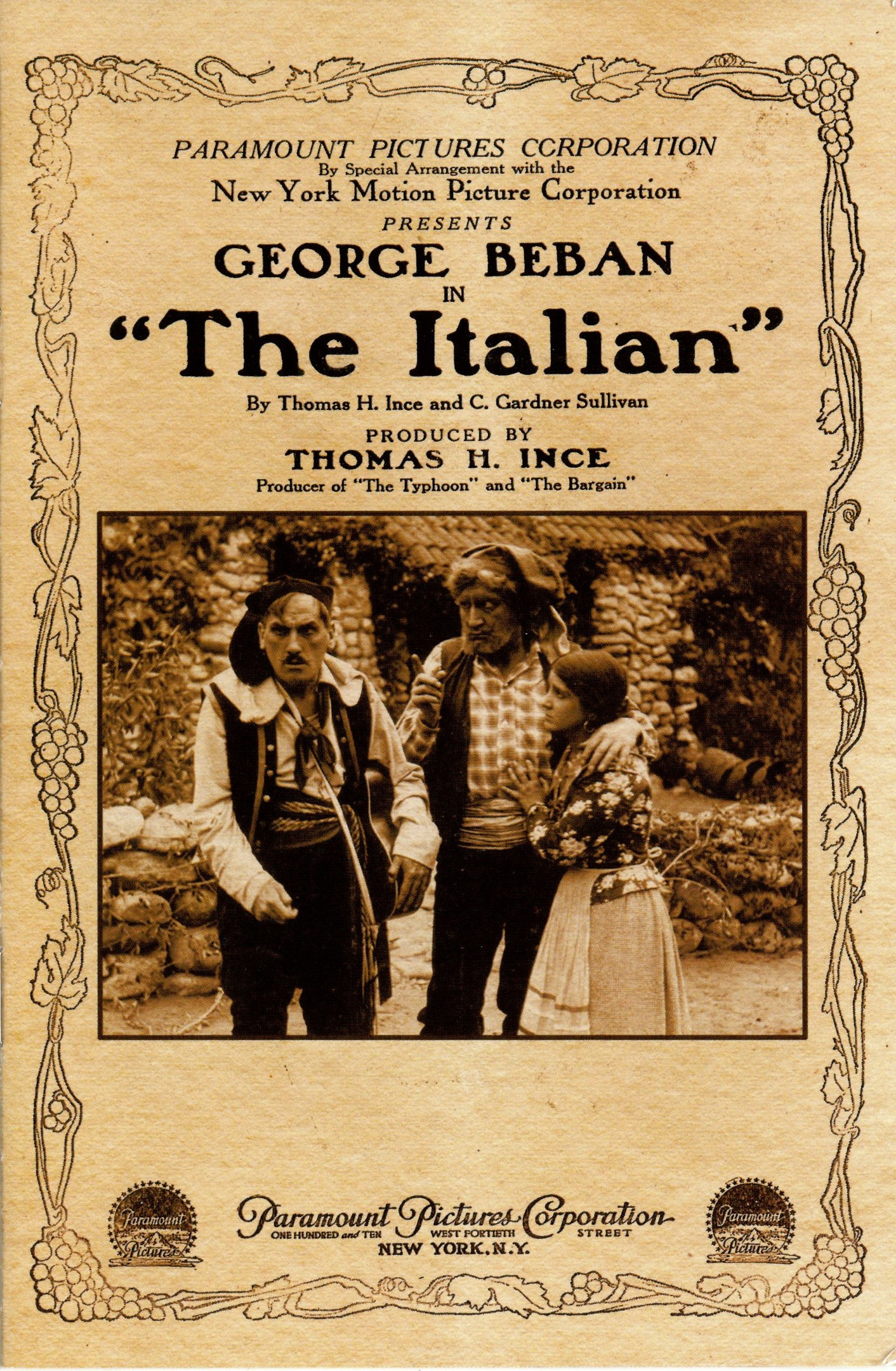 The Italian (1915 film) The Birth of a Genre The Italian Thomas H Ince 1915 RealReel